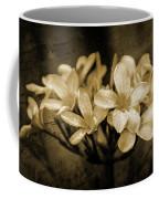 Frangipani In Sepia Coffee Mug