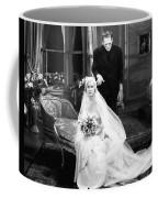 Frankenstein Monster Sneaks Up On Bride 1931 Movie Coffee Mug
