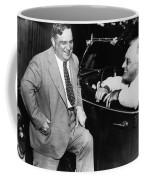Franklin Roosevelt And Fiorello Laguardia In Hyde Park - 1938 Coffee Mug