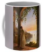 Franz Ludwig Catel  A Monk Meditating In A Cloister Coffee Mug