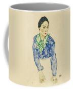 Frauenbildnis Mit Blauem Und Grunem Coffee Mug