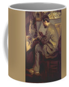Frederic Bazille Painting The Heron 1867 Coffee Mug