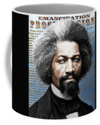 Frederick Douglass And Emancipation Proclamation Painting In Color  Coffee Mug