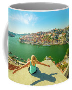 Freedom Woman At Douro River Coffee Mug
