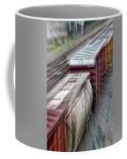 Freight Train Abstract Coffee Mug