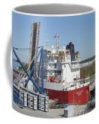 Freighter In Lock Of Saint Lawrence Coffee Mug