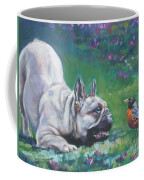 French Bulldog Meets Robin Redbreast Coffee Mug