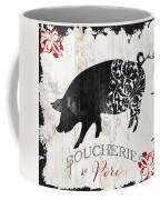 French Farm Sign Piglet Coffee Mug