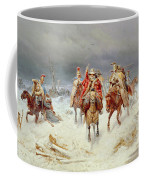 French Forces Crossing The River Berezina In November 1812 Coffee Mug