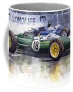 French Gp 1963 Start Lotus Vs Brm Coffee Mug