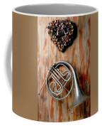 French Horn Hanging On Wall Coffee Mug