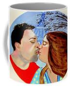 French Kissing At The Eiffel Tower Coffee Mug