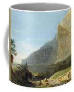 French Master 1st Half Of Th 19th Century   Rocky Cliff Off Shore Coffee Mug