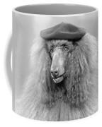 French Poodle Wearing Beret, C.1970s Coffee Mug