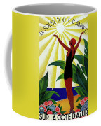 French Riviera, Girl On The Beach, France Coffee Mug