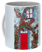 French Stone House And Rose Trellis Coffee Mug