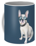 Frenchie French Bulldog Aviators Dogs In Clothes Coffee Mug