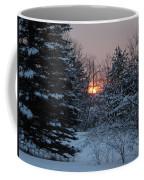 Fresh Snow At Sunrise Coffee Mug