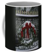Fresh Snow Covers A Christmas Wreath Coffee Mug by Stephen St. John