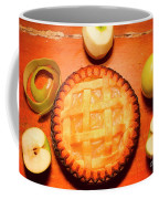 Freshly Baked Pie Surrounded By Apples On Table Coffee Mug