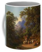 Frey  Johann Jakob 1813 Basel   1865 Frascati  Wedding Procession Of Italian Farmers Coffee Mug
