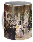 Friday At The Salon Coffee Mug by Jules Alexandre Grun