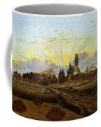 Friedrich Caspar David Neubrandenburg In Flames Coffee Mug
