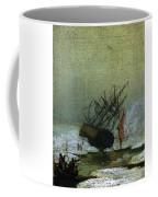 Friedrich Caspar David Wreck By The Sea Coffee Mug
