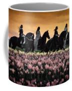 Friesians At Sunset Coffee Mug