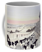 Friesians In Winter Coffee Mug