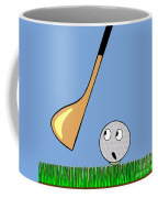 Frightened Golf Ball Coffee Mug
