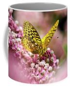 Fritillary Butterfly On Flowers Coffee Mug