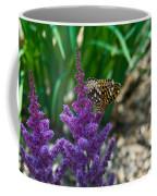 Fritllary Butterfly On Astilbe Coffee Mug
