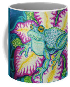 Frog And Flower Coffee Mug