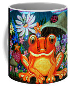 Frog And Flowers Coffee Mug
