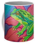 Frog On Flower Coffee Mug