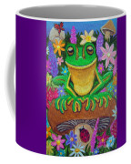 Frog On Mushroom Coffee Mug