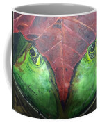 Frog With Leaf Coffee Mug