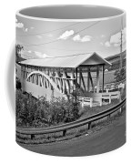 From Old To New In Bedford County Black And White Coffee Mug