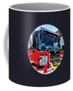Front Of Fire Truck With Hose Coffee Mug