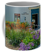 Flowers In Front Of Napier Common Room At Pilgrim Place In Claremont-california Coffee Mug
