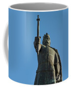 Front View Of King Afonso The Third Statue. Portugal Coffee Mug