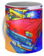 Front View Of Red Retro Car  Coffee Mug