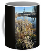 Frost Along Nippersink Creek In Glacial Park At Sunrise Coffee Mug