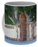 Frosted Almond Garden Wall With Red Brick Entrance Coffee Mug