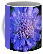 Frosted Blue Pincushion Flower Coffee Mug
