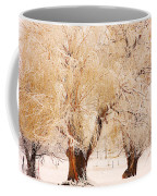 Frosted Golden Trees Coffee Mug