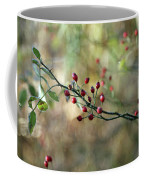 Frosted Red Berries And Green Leaves  Coffee Mug