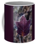 Frosty Lighted Leaf Coffee Mug