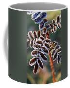 Frosty Rose Leaves Coffee Mug